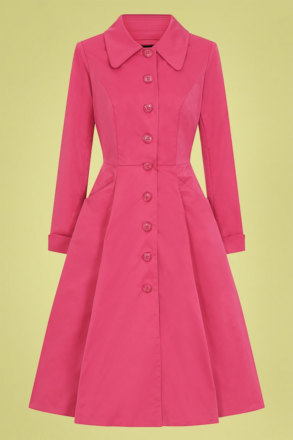 Vintage Coats & Jackets | Retro Coats and Jackets 50s Zara Swing Trench Coat in Fuchsia £19.95 AT vintagedancer.com