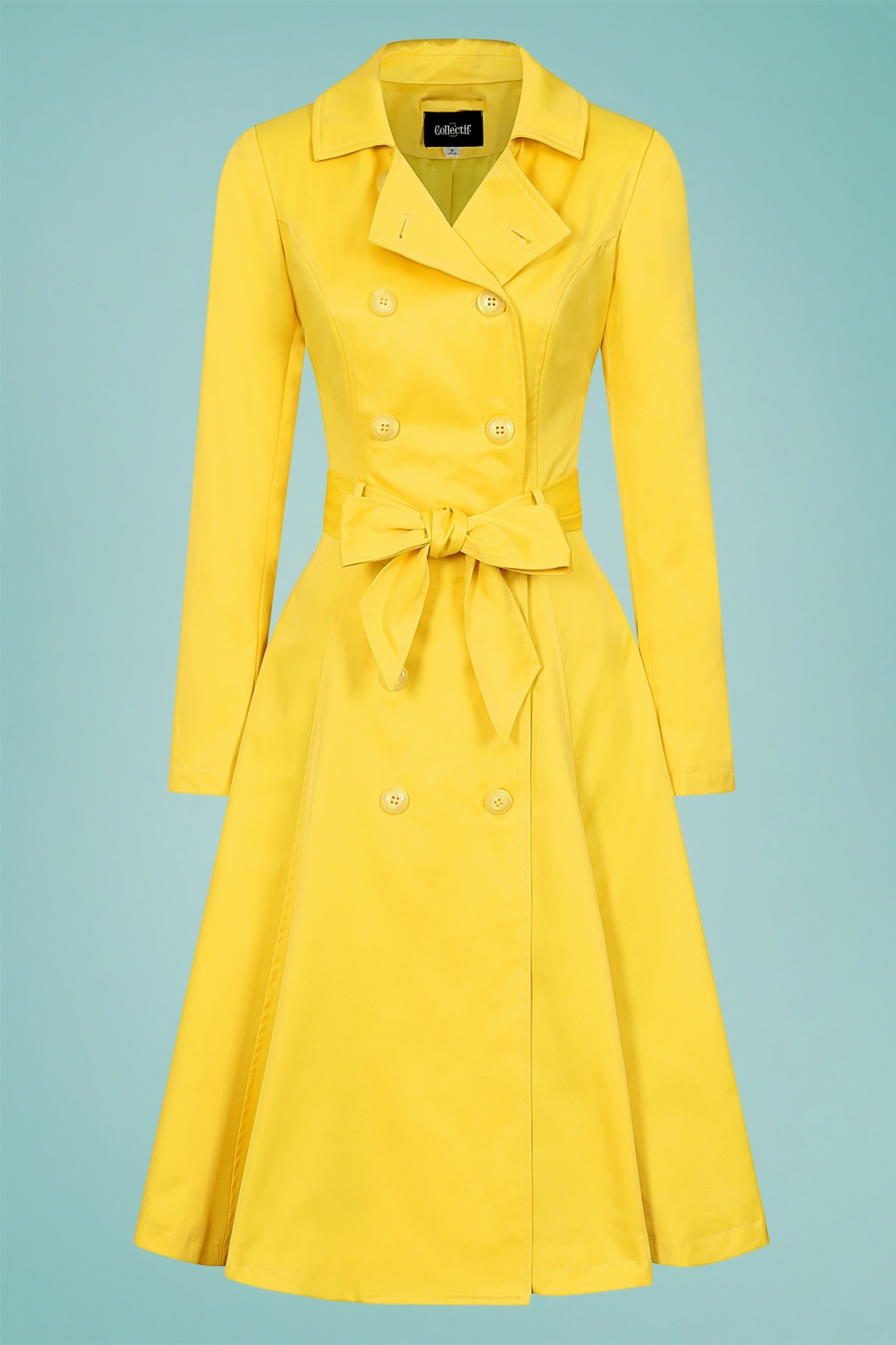 Vintage Coats & Jackets | Retro Coats and Jackets 40s Korrina Swing Trench Coat in Yellow £19.95 AT vintagedancer.com