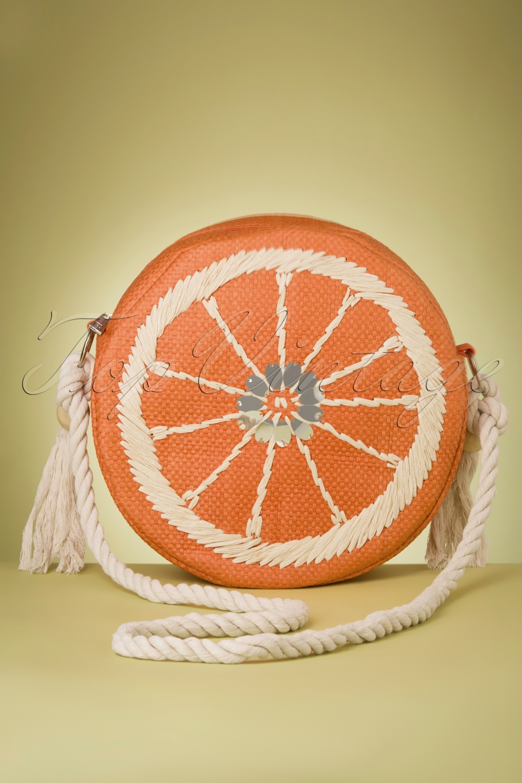 1950s Handbags, Purses, and Evening Bag Styles 50s Clementine Bag in Orange £30.16 AT vintagedancer.com