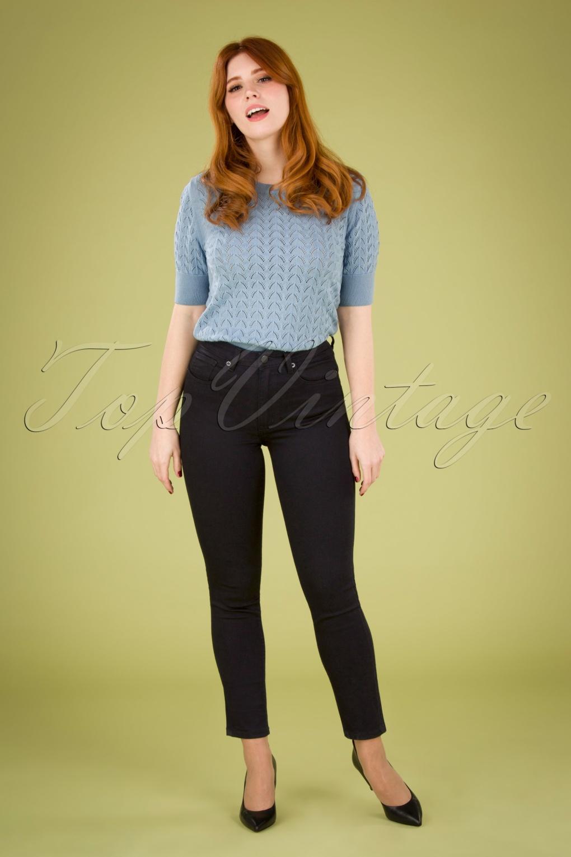 1960s Pants – Top 10 Styles for Women 60s Back in Black Cigarette Pants in Black £24.95 AT vintagedancer.com