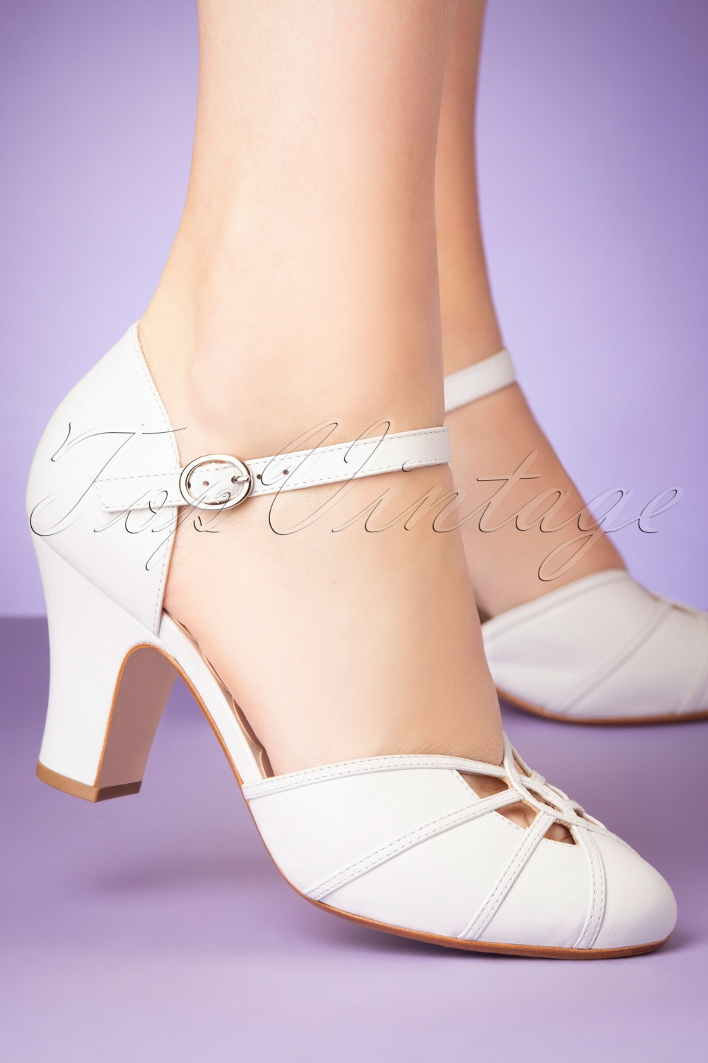 1930s Style Clothing and Fashion 50s Andie Leather Mary Jane Pumps in White £164.45 AT vintagedancer.com