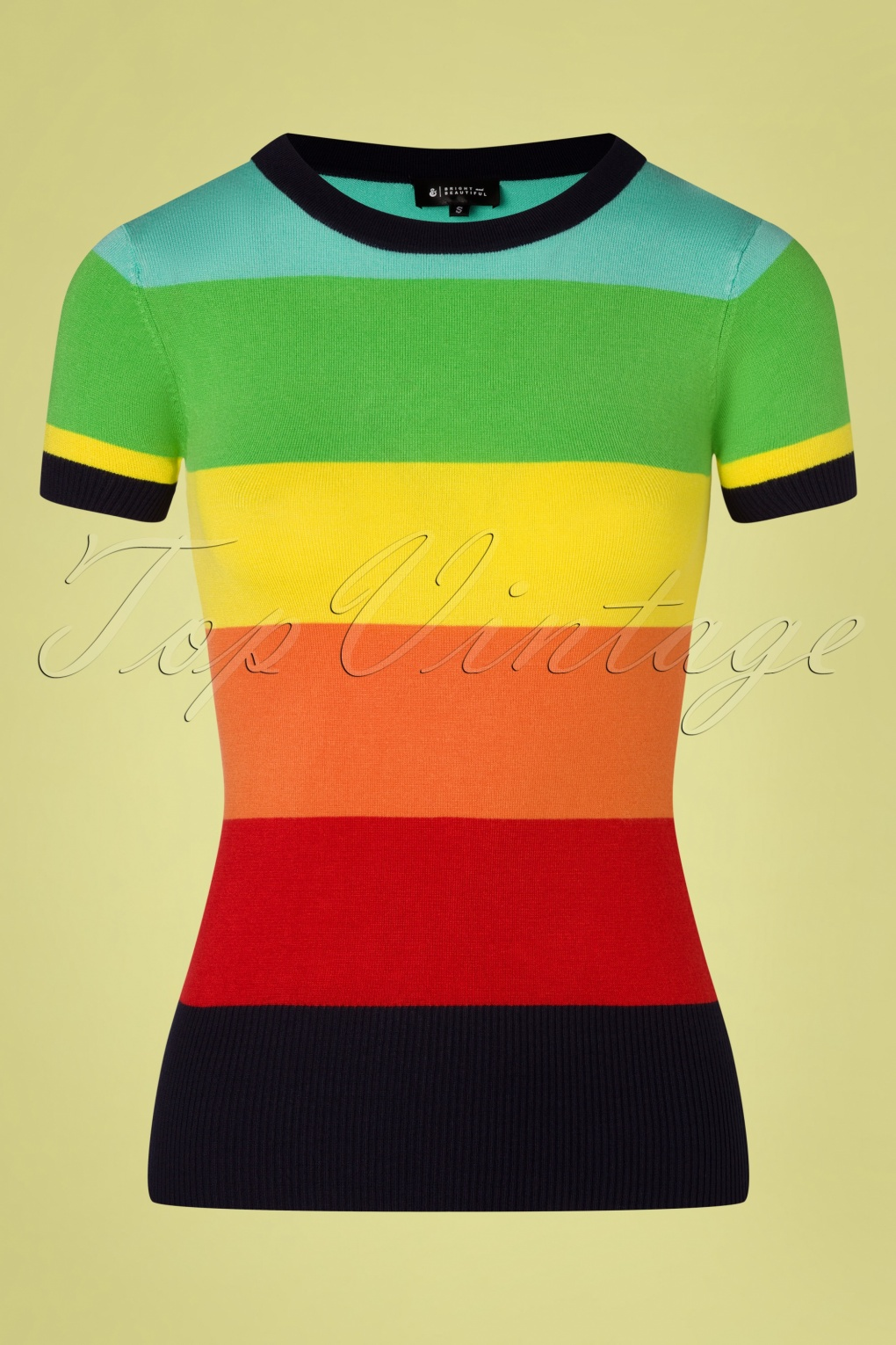 1970s Shirts, Tops, Blouses, T-Shirt Styles   History 60s Sydney Dreamer Top in Rainbow £38.26 AT vintagedancer.com