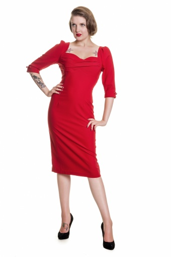 Rizzo Dress Plain SKU03120708 red