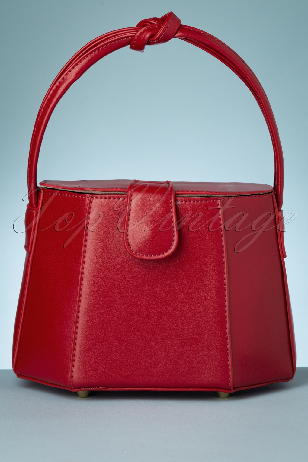 1950s Handbags, Purses, and Evening Bag Styles 50s Felicity Box Bag in Red £38.91 AT vintagedancer.com