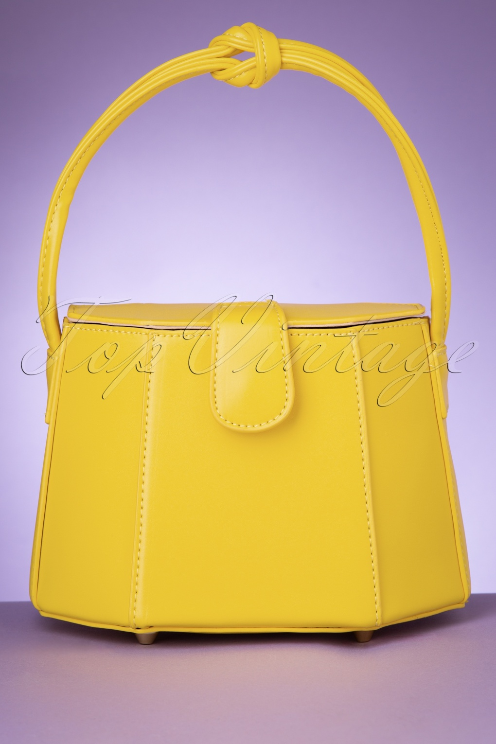 1950s Handbags, Purses, and Evening Bag Styles 50s Felicity Box Bag in Summer Yellow £38.91 AT vintagedancer.com