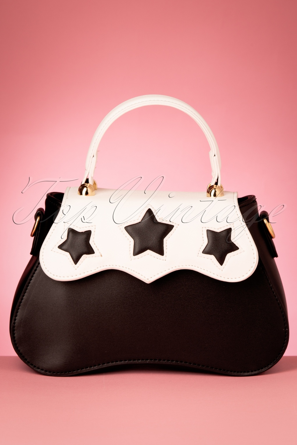 1950s Handbags, Purses, and Evening Bag Styles 50s Sonia Star Bag in Black and White £23.63 AT vintagedancer.com