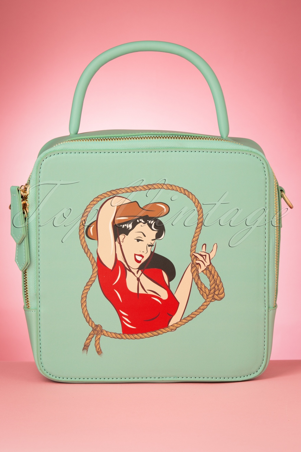 1950s Handbags, Purses, and Evening Bag Styles 50s Josie Cowgirl Bag in Teal £40.65 AT vintagedancer.com