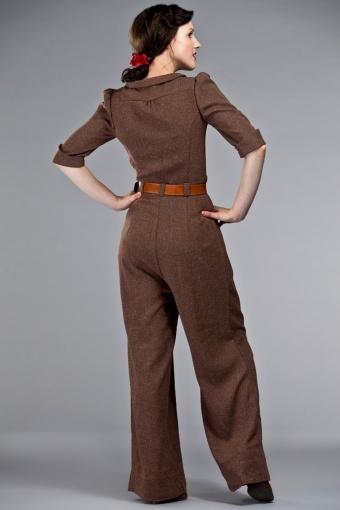 0b6978365eac 40s The Feminine Flair jumpsuit Brown