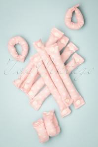 En mi Heart - Juego de 12 rulos en rosa claro