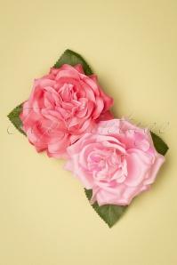 Flor de pelo rosa Susette de los años 50 en rosa