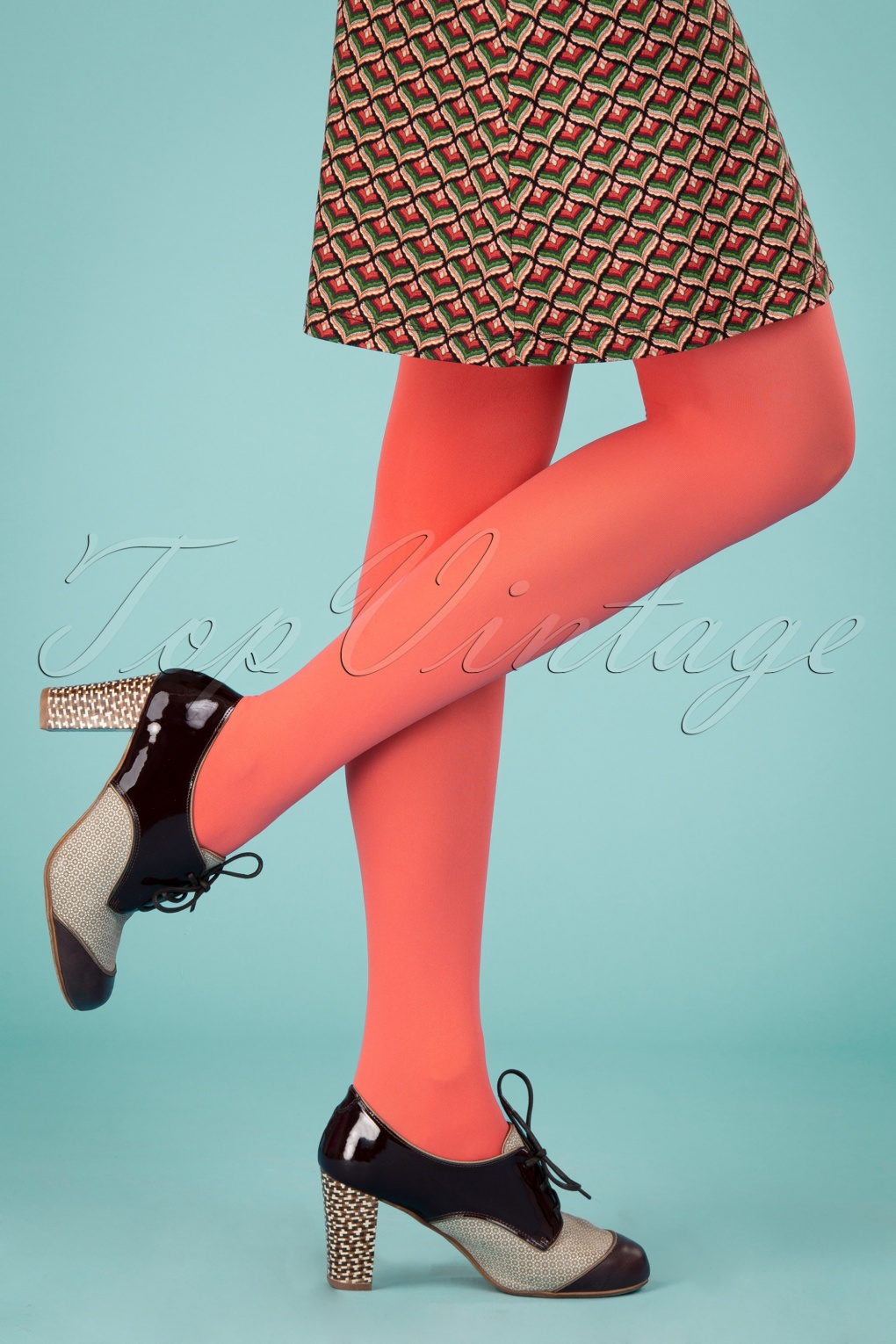 60s Mod Clothing Outfit Ideas 60s Tights in Lobster Red £21.23 AT vintagedancer.com
