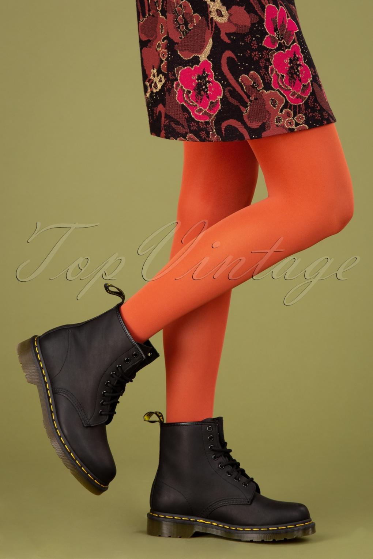 60s Mod Clothing Outfit Ideas 60s Tights in Burned Orange £21.23 AT vintagedancer.com