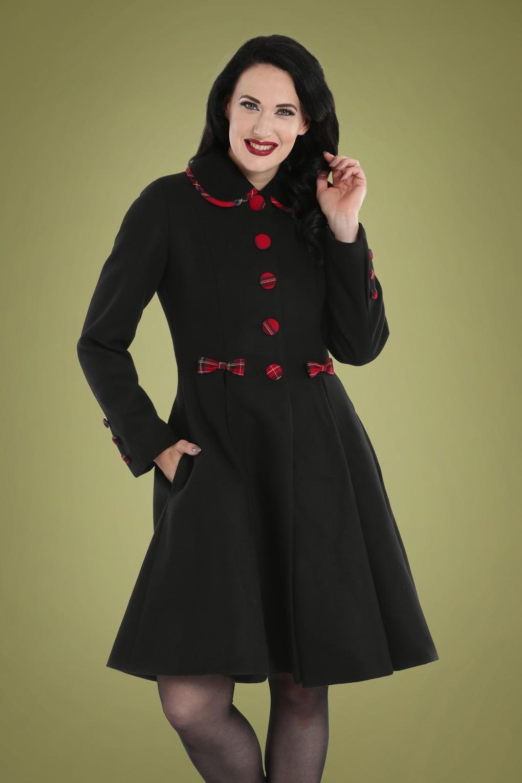 Vintage Coats & Jackets | Retro Coats and Jackets 50s Tiddlywinks Coat in Black £117.39 AT vintagedancer.com