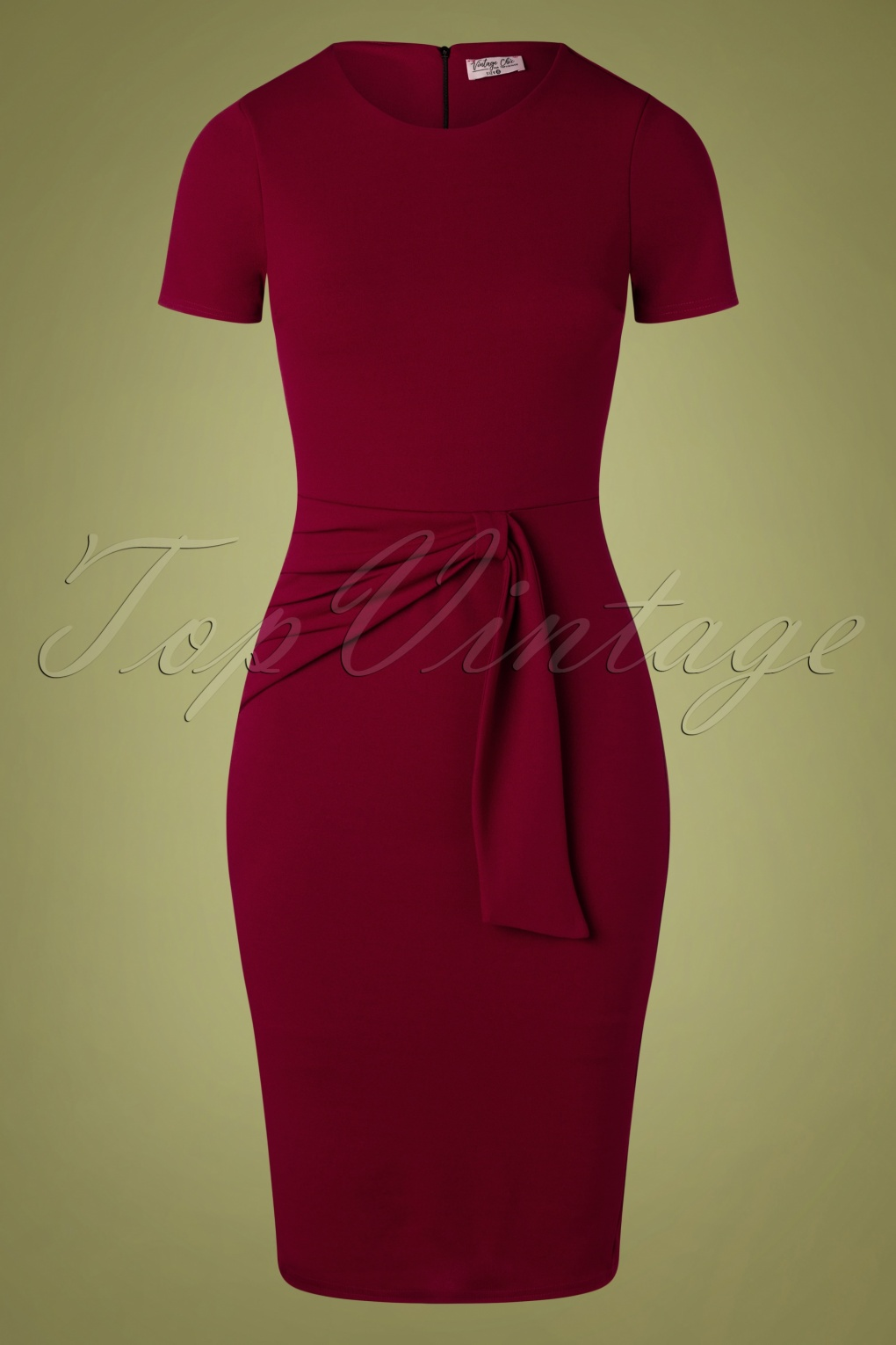Pin Up Dresses | Pinup Clothing & Fashion 50s Lolina Pencil Dress in Wine £51.01 AT vintagedancer.com