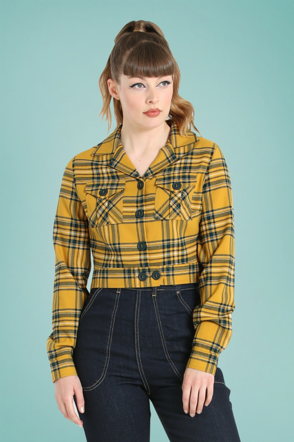 Vintage Coats & Jackets | Retro Coats and Jackets 50s Wither Jacket in Mustard £51.46 AT vintagedancer.com