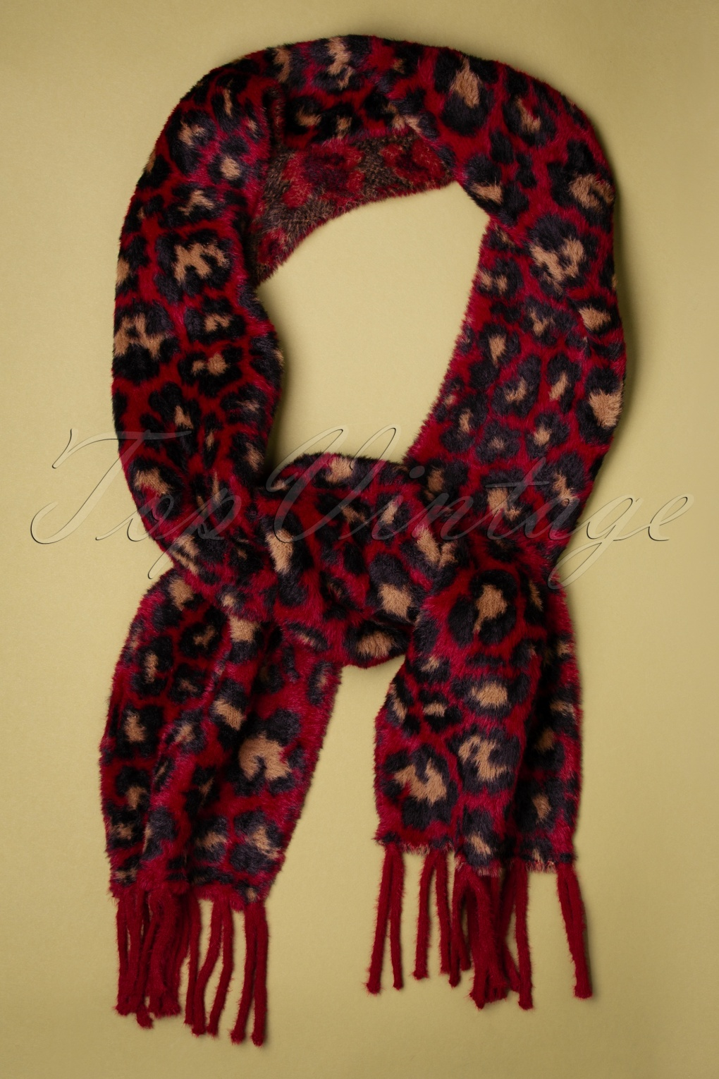 50s Hair Bandanna, Headband, Scarf, Flowers | 1950s Wigs 50s Verity Leopard Scarf in Red £30.01 AT vintagedancer.com