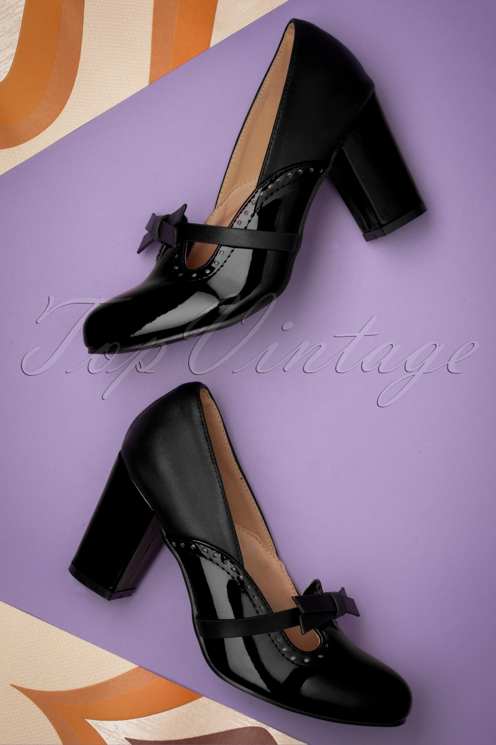 70s Clothes | Hippie Clothes & Outfits 60s My Sharona Pumps in Black £54.06 AT vintagedancer.com