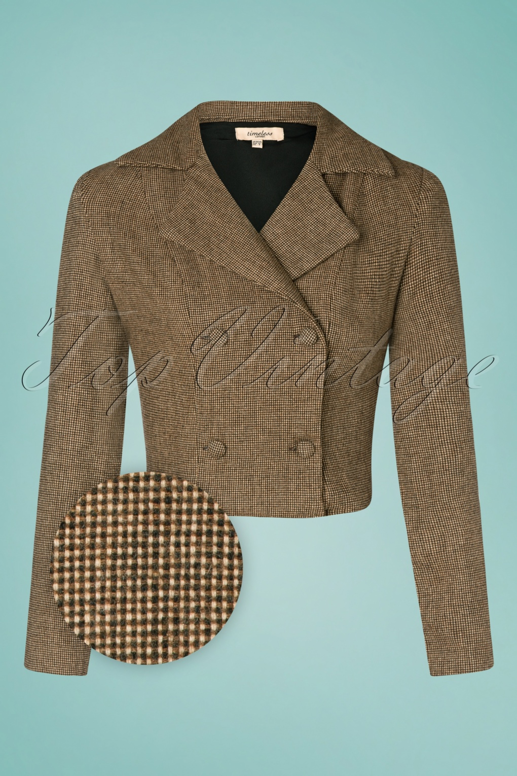 Vintage Coats & Jackets | Retro Coats and Jackets 40s Celia Cropped Wool Jacket in Brown £72.43 AT vintagedancer.com