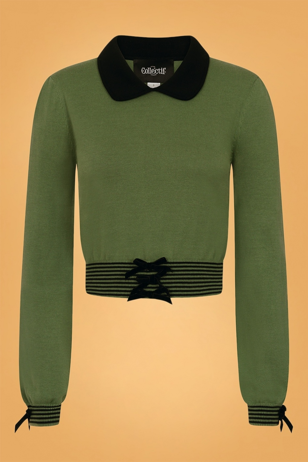 1950s Sweaters, 50s Cardigans, 50s Jumpers 50s Maeve Jumper in Thyme Green £51.26 AT vintagedancer.com