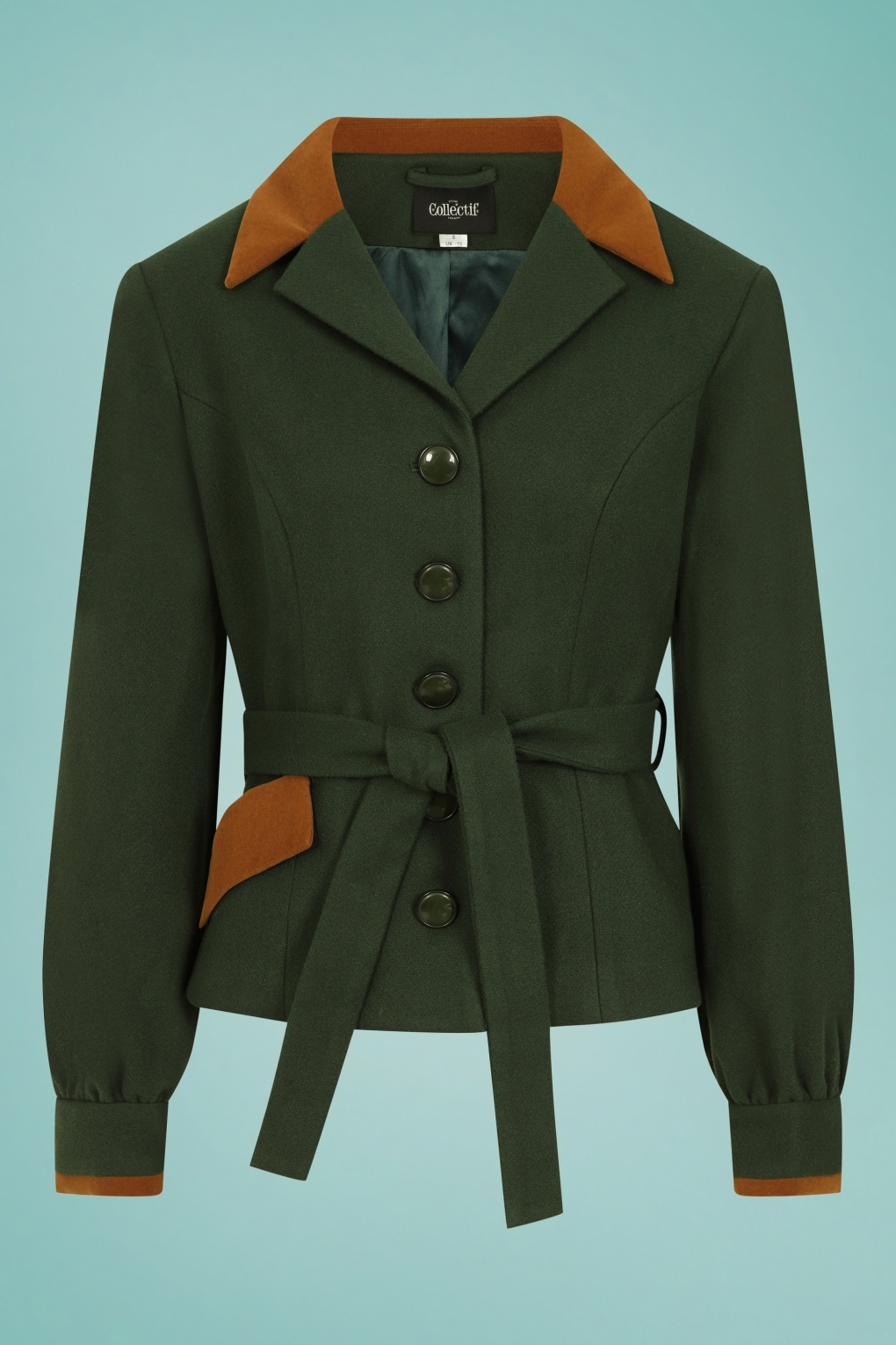 Vintage Coats & Jackets | Retro Coats and Jackets 40s Rosemary Jacket in Forest Green £94.02 AT vintagedancer.com