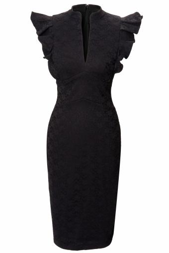 Hybrid fiona black lace dress