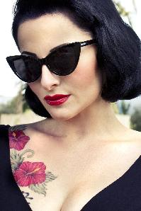 50s Cats Eye Classic Sunglasses Black