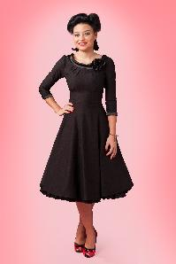 50s First Lady swing dress black