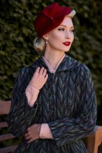 Americana corta de lana multicolor Eris Lou de los años 40