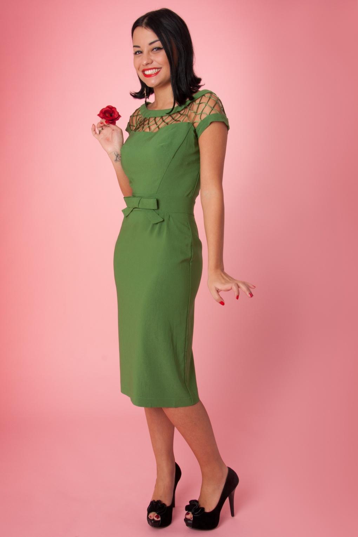 Green Tatyana 50s Dress Alika Pencil MSzqULVpG
