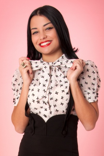 Sassy secretary blouse