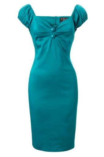 50s Dolores dress Teal Turquoise