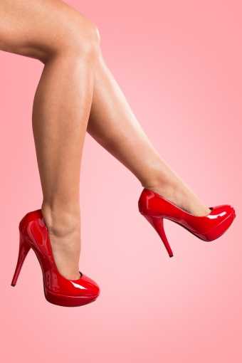 Pinup Couture Harlow Lipstick Red Patent platform pumps_22-2878