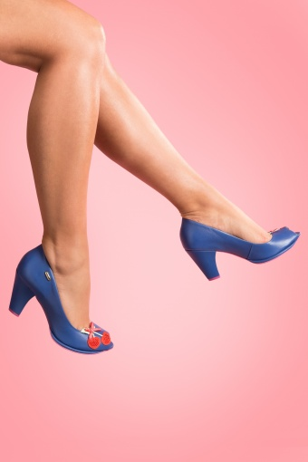 Cristófoli Emily Royal Blue Cherry leather pumps_22-4012