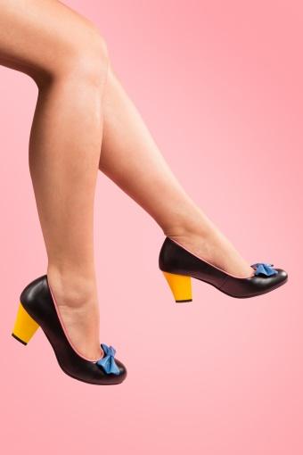 Lola Ramona Elsie Black Colorblock leather pumps_22-3956