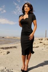 Veronica Dress in Black Heart