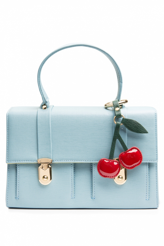 60s iced blue cherry handbag. Black Bedroom Furniture Sets. Home Design Ideas