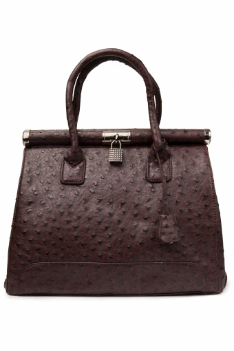 Milan Ostrich Brown Handbag_88-4431_20130128_0002
