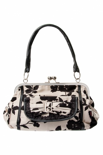 50s Floral Black Cream Lace handbag_88-4066_012