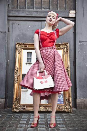 SKU09120303 - Liesel Gingham Circle Skirt