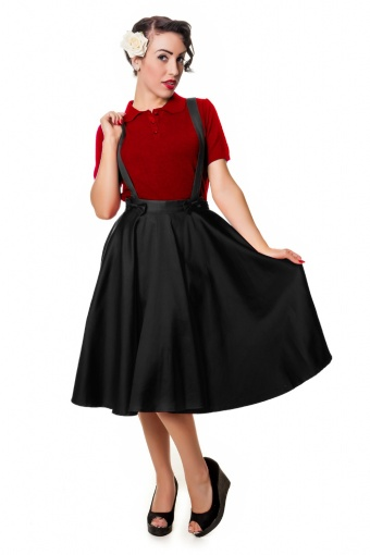 Liesel Circle Skirt Red