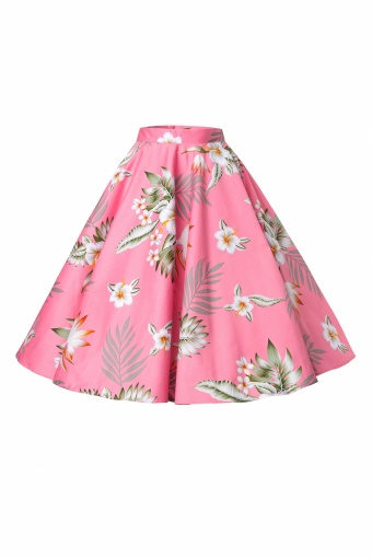Bunny 50s Candy Swing Skirt in Pink Hibiscus_51-4533_20130226_0005