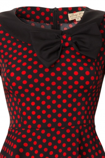 6f46e7e1f585b Lindy Bop 1950's Cassy Red Polka Dot Peter Pan Collar vintage style swing  party rockabilly dress_44