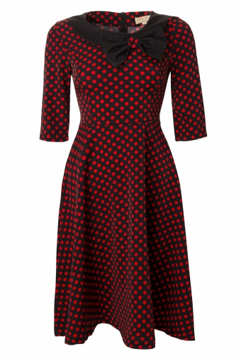 Lindy Bop 1950's Cassy Red Polka Dot Peter Pan Collar vintage style swing party rockabilly dress_44-4558_20130226_0003