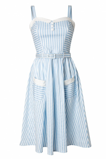 Bunny_Bunny 50s Gabriel Swing Dress Blue and White stripes_44-4580_20130311_0008