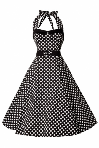 47d4d381c368eb Collectif 50s Stella Sweetheart Doll White Polka Dot swing  dress 44-4700 20130311 0003