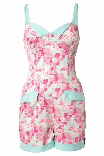 Collectif Clothing 50s Futura Playsuit Flamingo Print_52-4698_20130311_0005