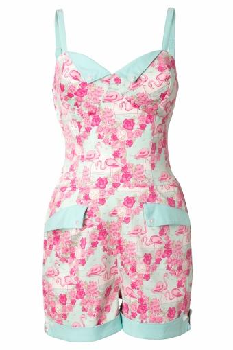 Collectif Clothing 50s Futura Playsuit Flamingo Print_52-4698_20130311_0005