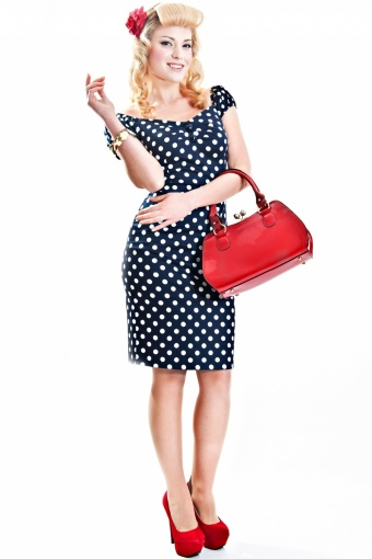 dolores top polka navy two