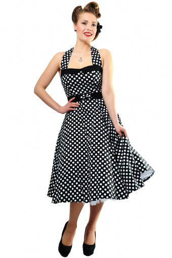 Stella Doll Sweetheart Polka Black New