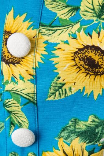50s sunrise sunflower dress. Black Bedroom Furniture Sets. Home Design Ideas